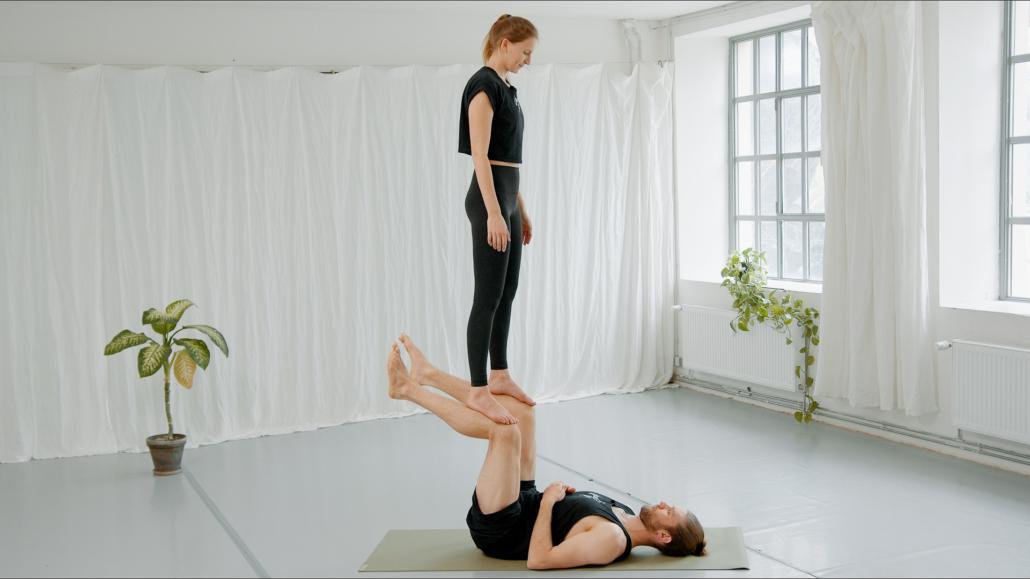 Foot to Shin Acro Yoga